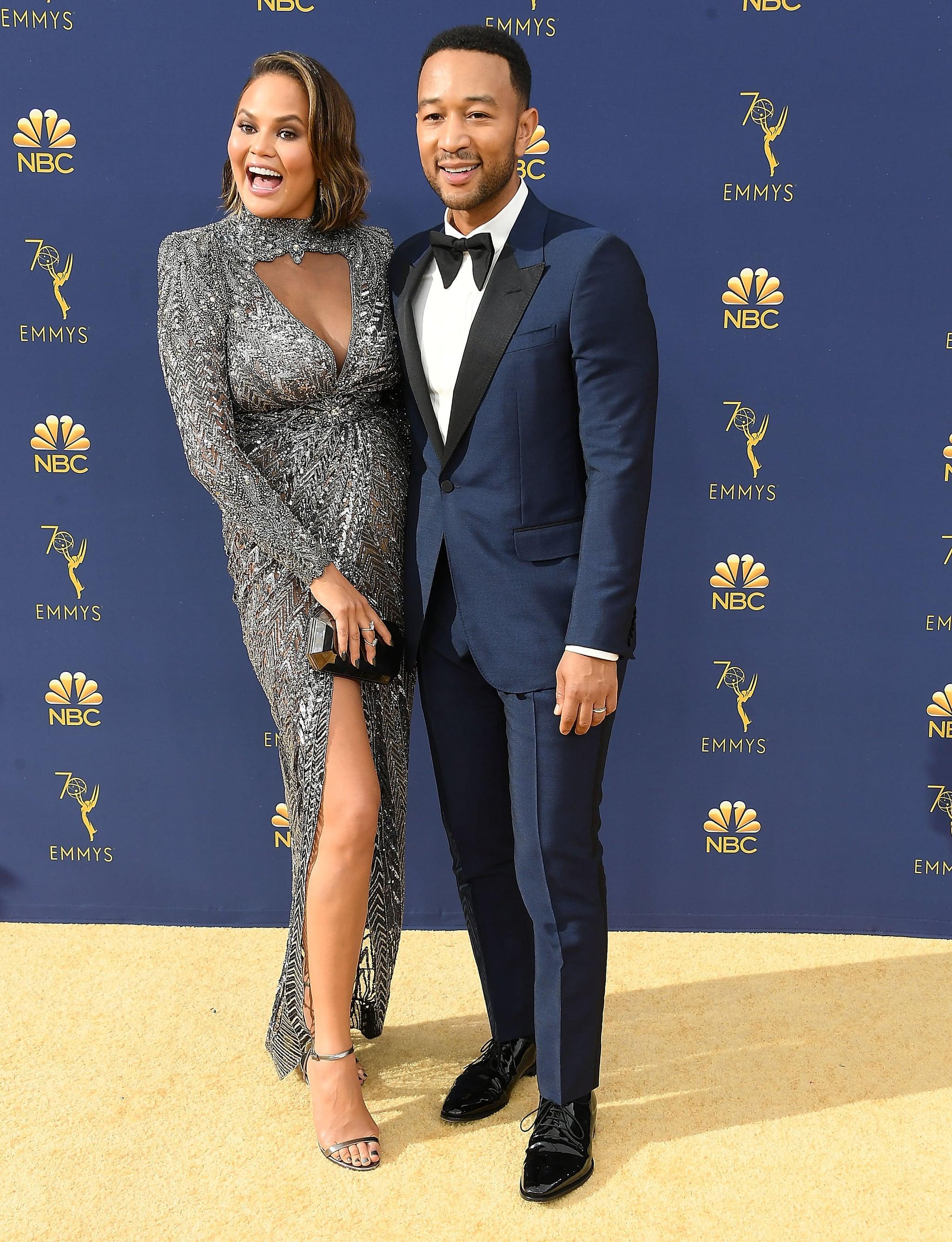 LOS ANGELES, CA - SEPTEMBER 17:  John Legend, Chrissy Teigen arrives at the 70th Emmy Awards on September 17, 2018 in Los Angeles, California.  (Photo by Steve Granitz/WireImage,)