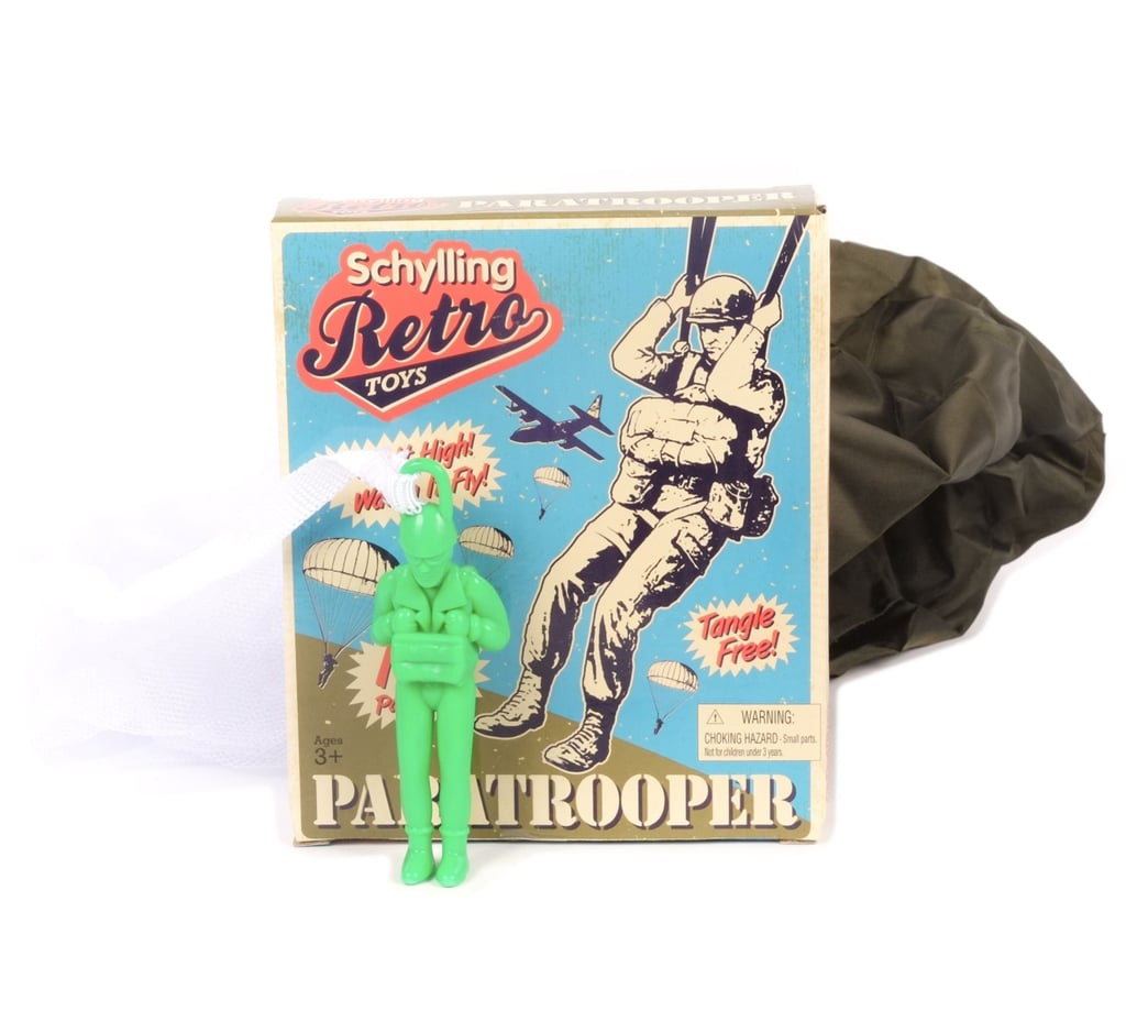 Classic Retro Paratrooper Toy With Parachute