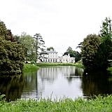 Views of the lake and Frogmore House, which is situated near Frogmore Cottage.