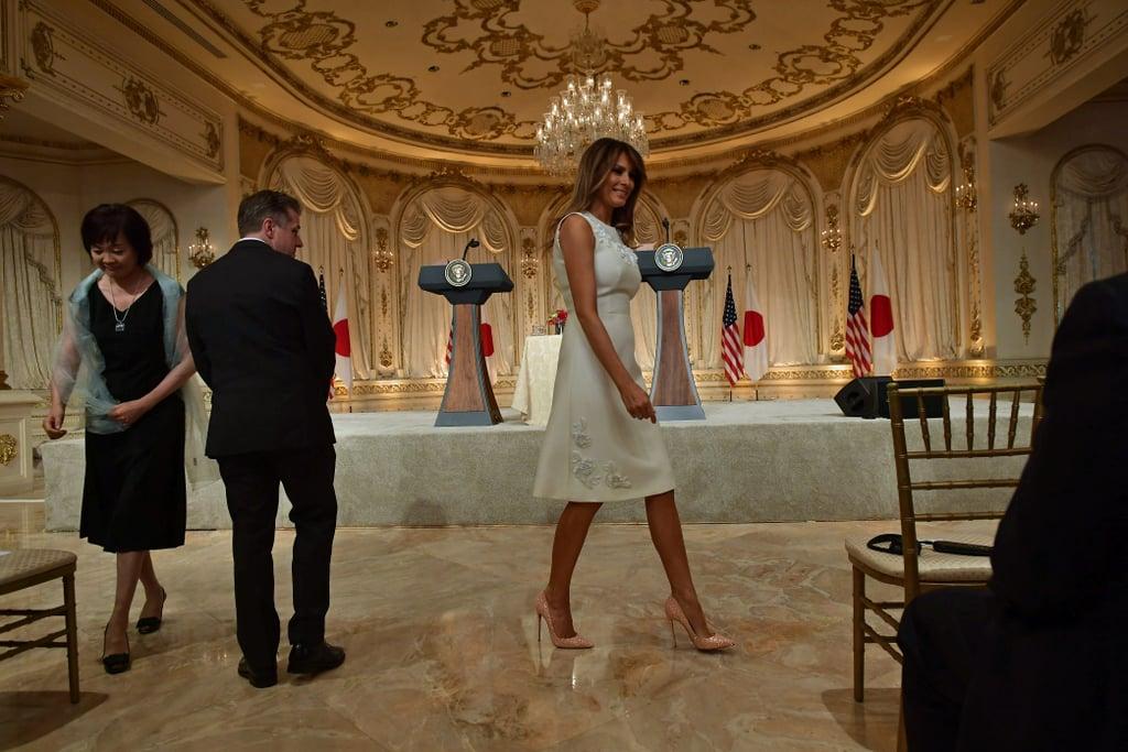 Melania Trump Christian Louboutin Glitter Pumps