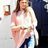 Alessandra Ambrosio stepped out in LA on Monday.