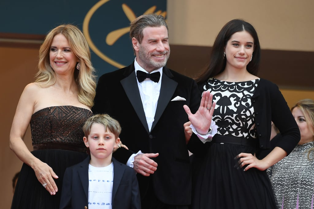 John Travolta brought his family along for the red carpet premiere of Solo: A Star Wars Story at the Cannes Film Festival on Tuesday. The actor posed for photos on the famous steps with his wife of nearly 27 years, Kelly Preston, as well as their two kids; daughter Ella Bleu, 18, was glammed up in a black gown, and 7-year-old son Benjamin looked adorable in a black-and-white outfit. John and Kelly are in the South of France to promote their upcoming film Gotti, in which John stars as the legendary crime boss John Gotti and Kelly portrays his wife, Victoria. The couple were all smiles at a photocall for the movie earlier in the day. While in Cannes, John will also be hosting a 40th anniversary screening of Grease on the beach — can you believe it's been 40 years?! — and accepting Variety's inaugural Cinema Icon Award for his decades-long Hollywood career. Keep reading to see John and his family at the Cannes Film Festival.      Related:                                                                                                           The Cannes Film Festival Is Just Getting Started, but It's Already Oozing With Glamour