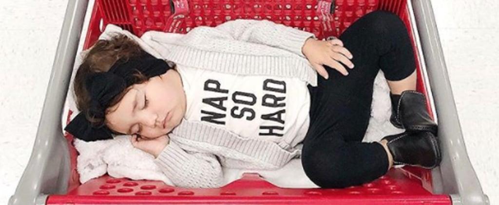 Toddler Asleep in Target Carts