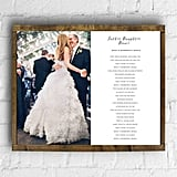 Framed Father Daughter Wedding Song/Poem on Canvas