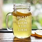 Engraved Mom Mason Jar