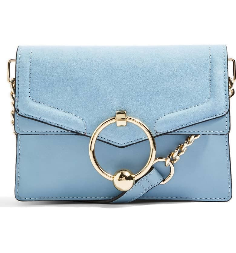 Topshop Seline Faux Leather Crossbody Bag