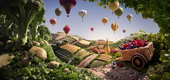 Carl Warner Creates Amazing Foodscapes