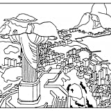 Get the coloring page: Christ the Redeemer
