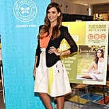 Jessica Alba's neon yellow Brian Atwood sandals pumped up her flirty ensemble at her book signing at CB2 in Santa Monica.