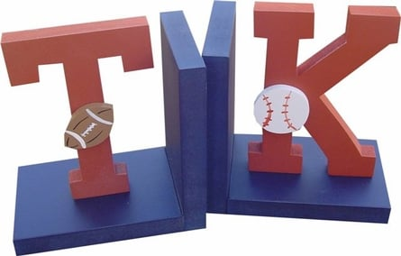 Rosenberry Rooms Varsity Initial Bookends