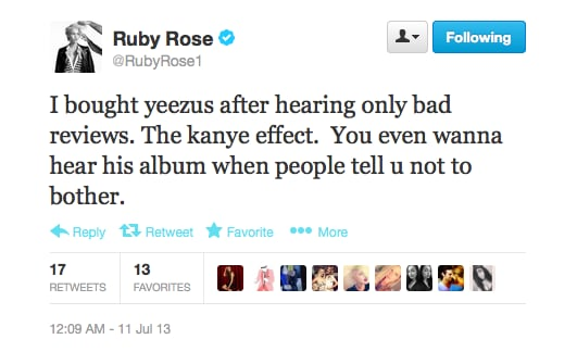 The Kanye effect. That sums it up nicely, Ruby!