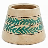 Small Vintage Palm Terracotta Decorative Vase