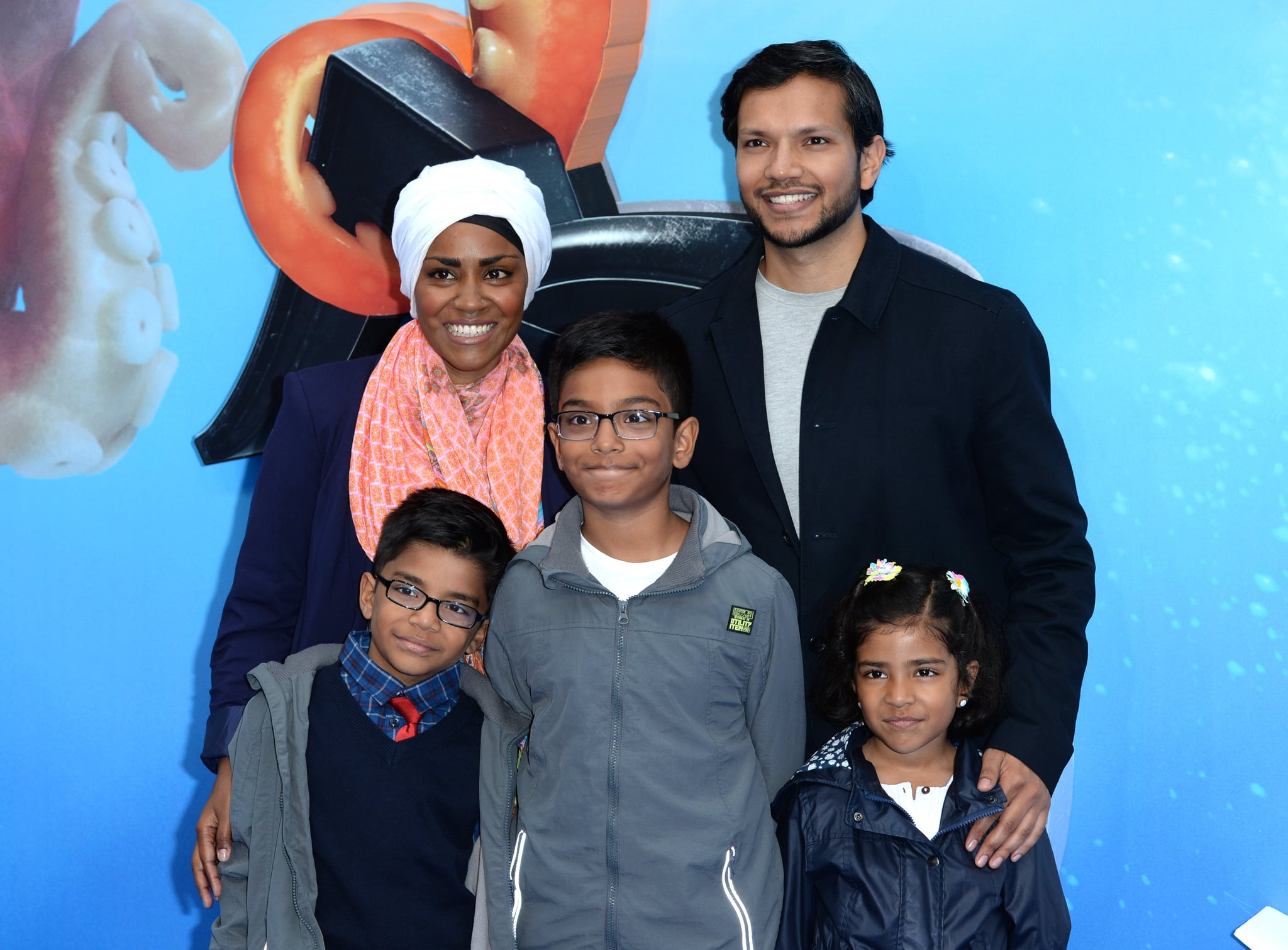 LONDON, ENGLAND - JULY 10:  Nadiya Hussain and family attend the UK Premiere of