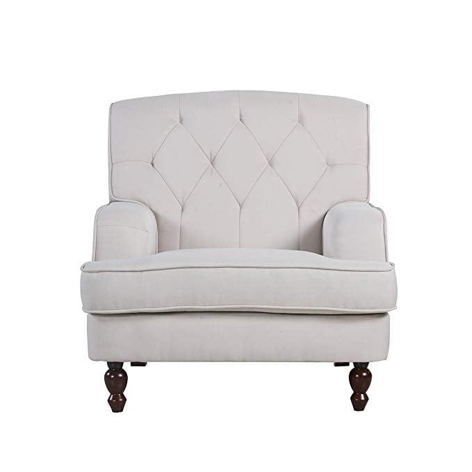 Modern Tufted Fabric Chair
