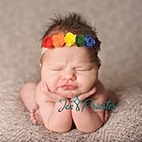 When baby Charlotte's mom brought a rainbow headband to her newborn shoot and explained that it was because of her rainbow baby status, photographer Jen Priester asked if she could expand on that idea to really portray the beauty of a rainbow birth.