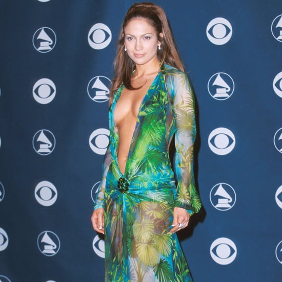 Jennifer Lopez's Green Versace Grammy Awards Dress in 2000