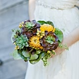 """You don't have to be """"alternative"""" or pinching pennies to want a nonfloral bouquet at your wedding. From feathers to ferns, there are so many chic options that are not only gorgeous, but also one of a kind. Check out all of these stunning, outside-the-box bouquet options from POPSUGAR Home. They're fit for both the bride and the bridal party. Photo by  Andi Mans via Style Me Pretty"""