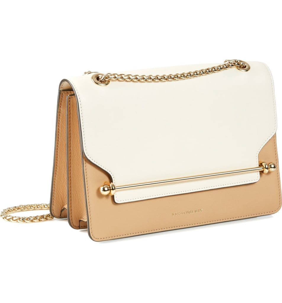 Strathberry Bicolor East/West Leather Crossbody Bag