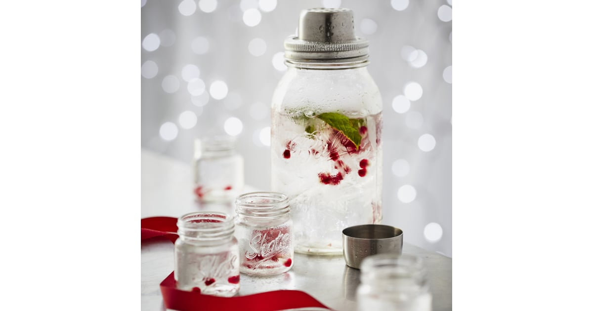 Mason jar cocktail shaker 29 fun food gifts for Sur la table cocktail shaker