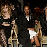 Suki Waterhouse, Naomi Campbell and Penelope Cruz at Burberry