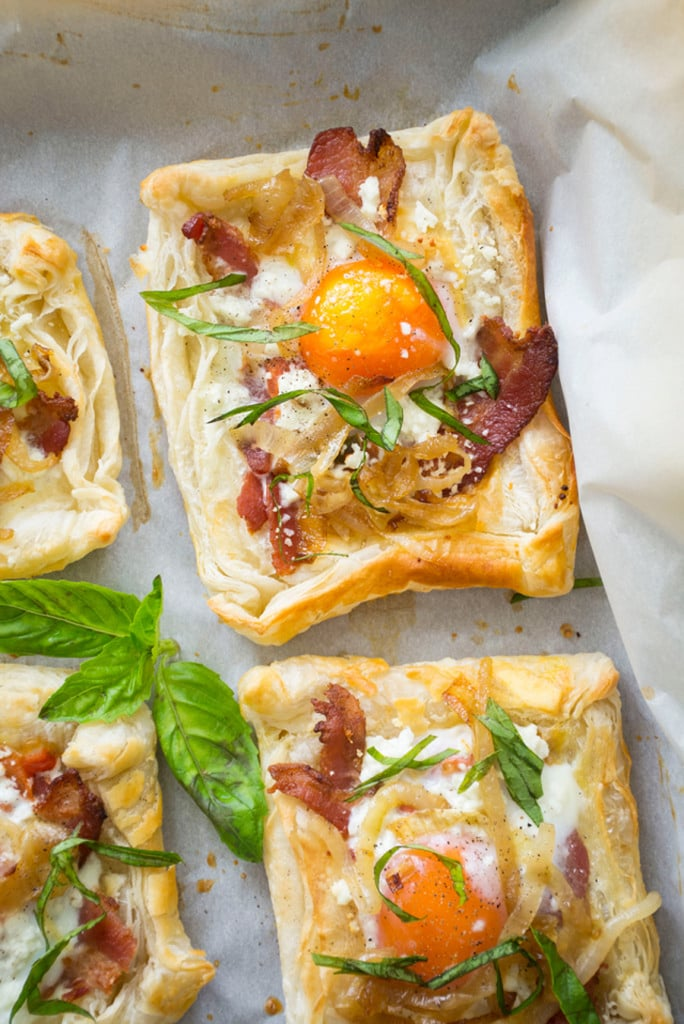 Bacon, Egg, and Goat Cheese Breakfast Pastries