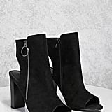 Forever 21 Open-Heel Faux Suede Boots