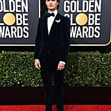 Ansel Elgort's Eyeshadow at the Golden Globes 2020