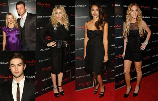 Red Carpet Photos of Lindsay Lohan, Madonna, Jessica Alba and More at NYC Premiere of Filth and Wisdom