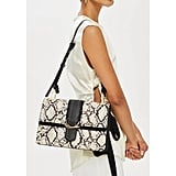 Topshop Suri Snake Effect Shoulder Bag