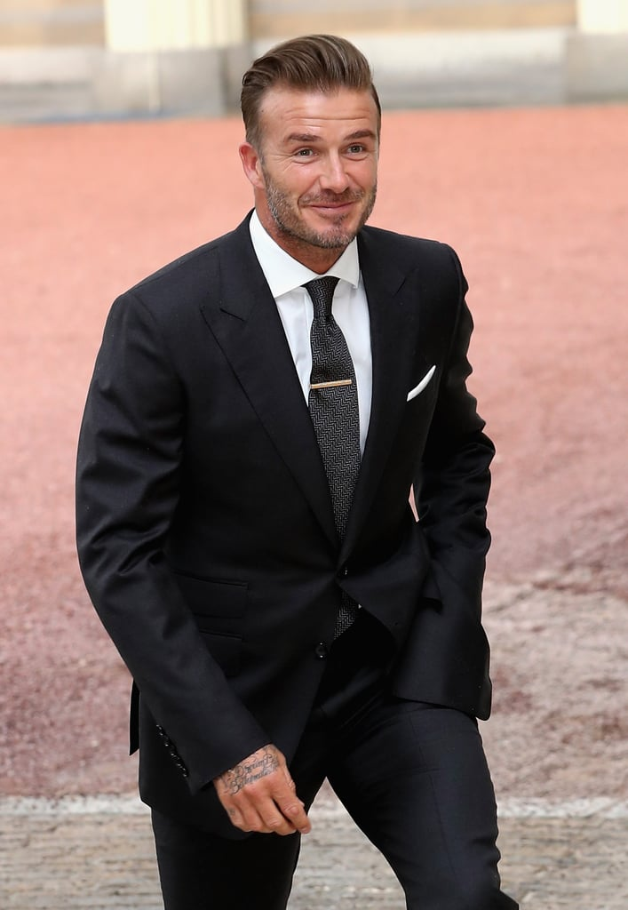 Queen Elizabeth And David Beckham In London June 16 Popsugar Celebrity Uk Photo 6