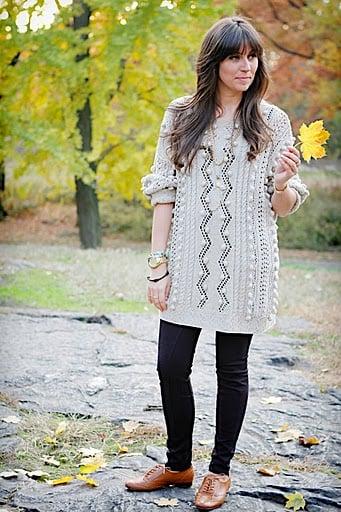 boyfriend sweater & oxfords