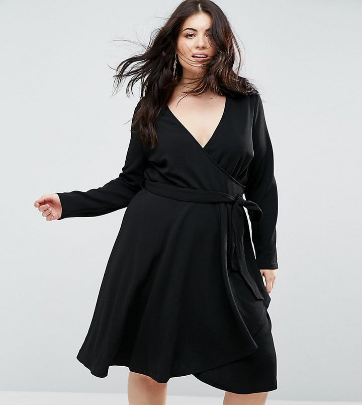 Outrageous Fortune Plus Ruffle Wrap Dress