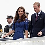 Kate Middleton Goes Beautiful in Royal Blue Alongside Prince William on a Canadian Warship