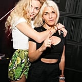 Chelsea Leyland, left, and Jenné Lombardo at the Yeezus Listening Party in New York.  Source: David X Prutting/BFAnyc.com