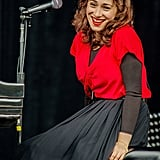 Regina Spektor sang her heart out for a Sunday-afternoon show.