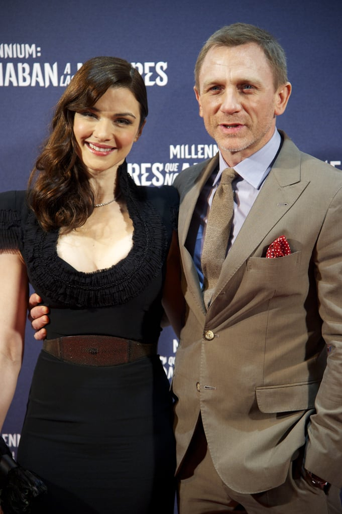 Daniel Craig and Rachel Weisz were side by side for the Madrid premiere of The Girl With the Dragon Tattoo.