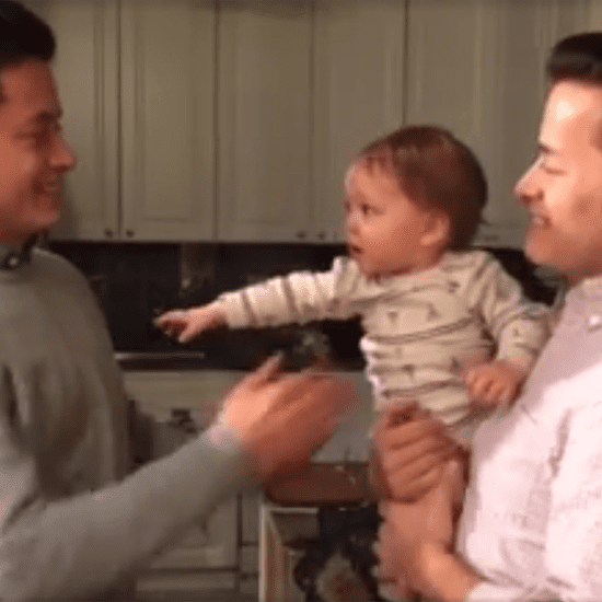 Baby Meets Dad's Twin