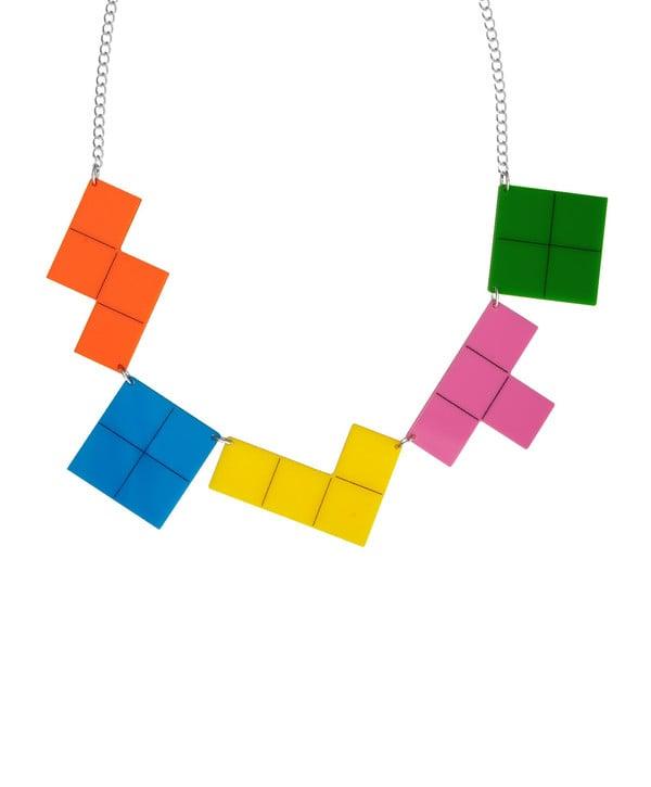 Colorful Block Tetris Necklace ($105)