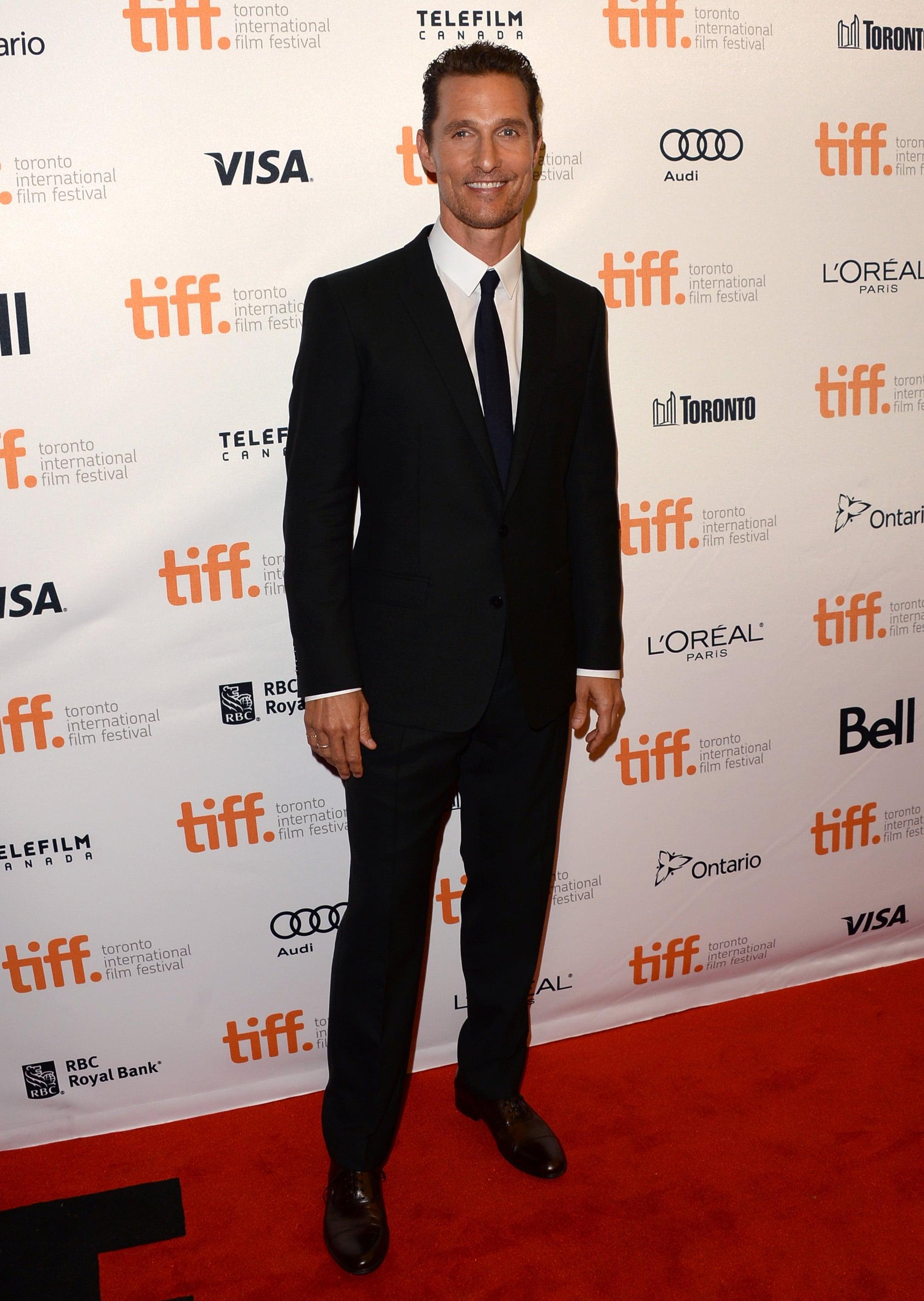 Matthew McConaughey hit the red carpet for the Toronto International Film Festival premiere of Dallas Buyers Club.