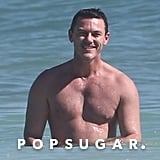 Luke Evans Shirtless in Mexico Pictures December 2018