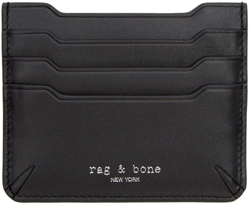 Rag & Bone Black Leather Crosby Card Holder ($125)