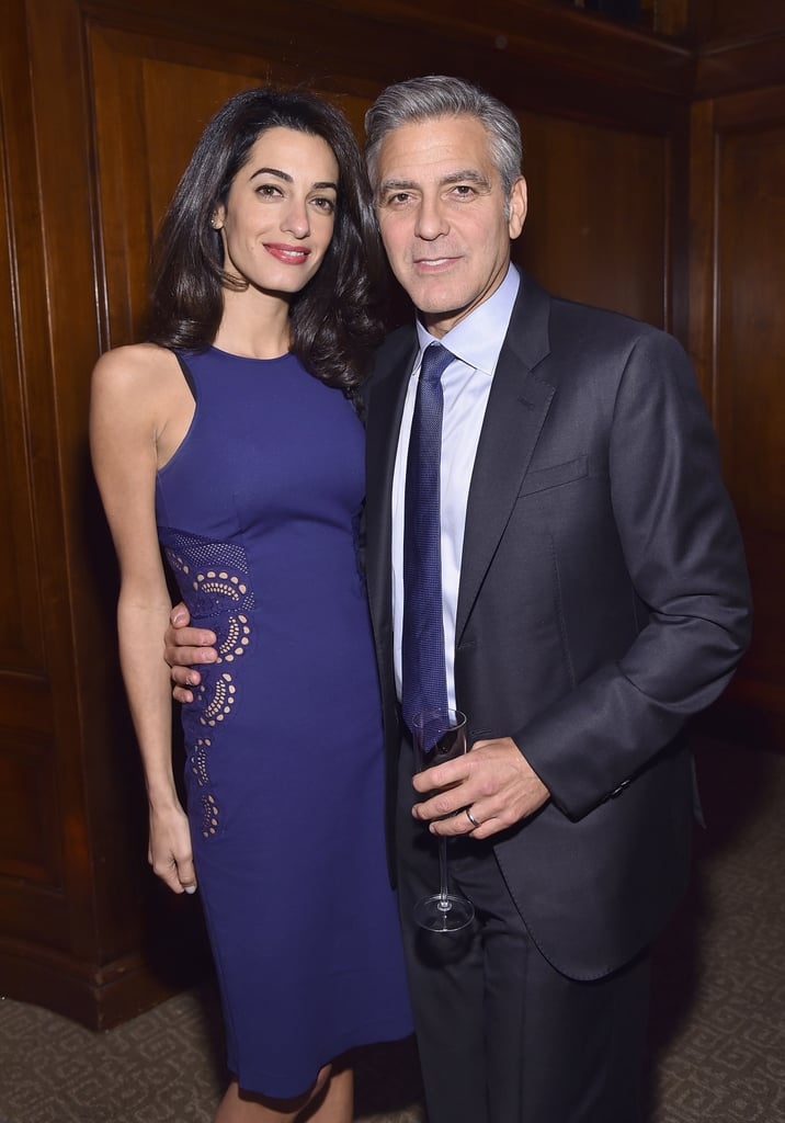 """George and Amal Clooney stepped out in NYC on Tuesday night to attend an event for The 100 LIVES Initiative, which recognizes the people and institutions who put themselves at risk to save lives during the Armenian genocide 100 years ago. At the event, a humanitarian prize was announced as part of an effort to push for the documentation of the genocide and the survivors' stories. George said in a statement that the Armenian sponsors and his organization, Not On Our Watch, share a common goal: """"to focus global attention on the impact of genocide as well as putting resources toward ending mass atrocities around the world."""" The couple's outing comes after a sweet date night this past weekend, and it's been a particularly busy week for Amal, who recently announced that she's going to teach at NYC's Columbia Law School this Spring. Keep reading for more pictures from this week's event."""