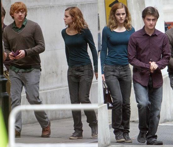 Photos of Harry Potter Cast on Set