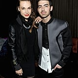 Joe Jonas and Blanda Eggenschwiler wore coordinating ensembles.