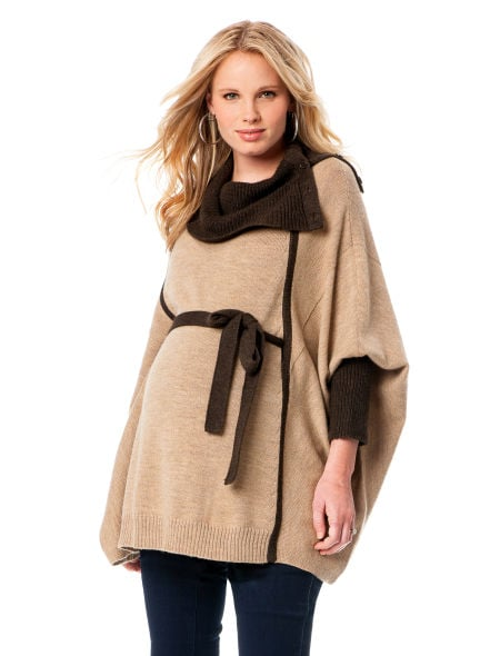 Poncho Maternity Sweater ($69)