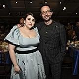 Beanie Feldstein and Nick Kroll at the 2020 Spirit Awards