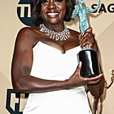 When Viola Davis's SAG Award Gave Her Outfit a Pop of Color
