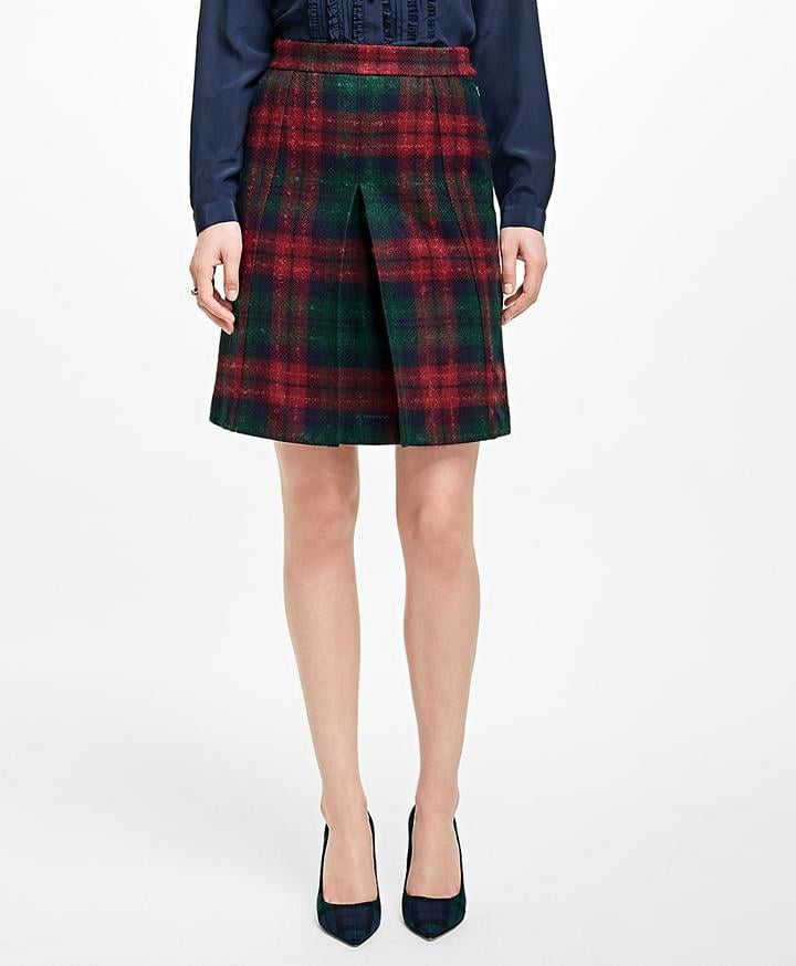 Brooks Brothers Tartan Wool Skirt