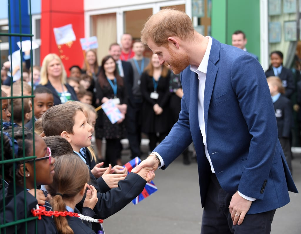 Harry Explaining Meghan's Pregnancy to Kids Shows Just How Excited He Is to Become a Dad