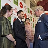 With Olivia Colman, Helen McCrory, and Prince Charles.
